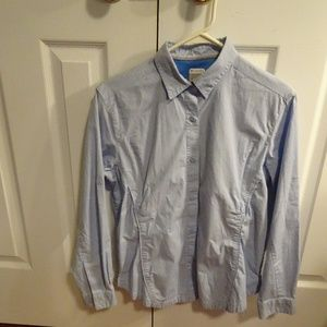 Columbia Omni Shade  L/S Sleeve Shirt Blue Women M